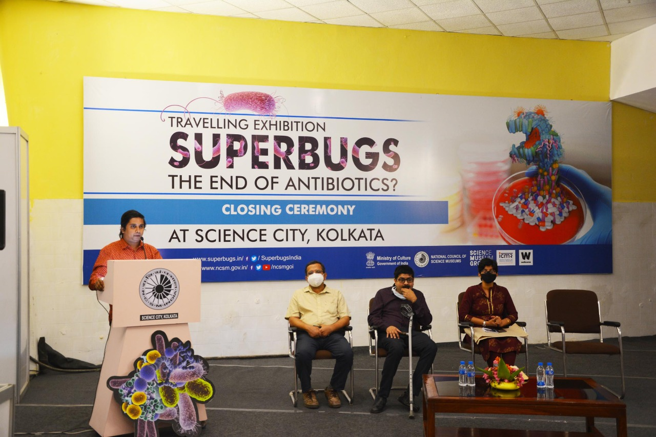 Programs on National Science Day and Closing ceremony of the exhibition 'Superbugs: The End of Antibiotics?' organised at Science City, Kolkata