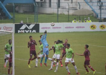 CHAMPIONS GOKULAM KERALA AND ARMY RED THROUGH TO DURAND QUARTERS