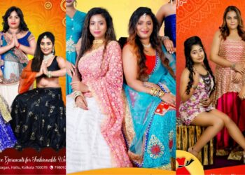 Priya Garments Pujo Hoardings succesfully launched featuring both fresher & experienced models